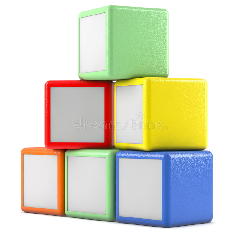 Boxes. Square boxes on white background stock illustration