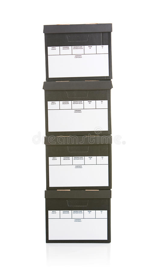 office file boxes. Download Boxes: Stack Of Office File Boxes Stock Image - Files, Cardboard
