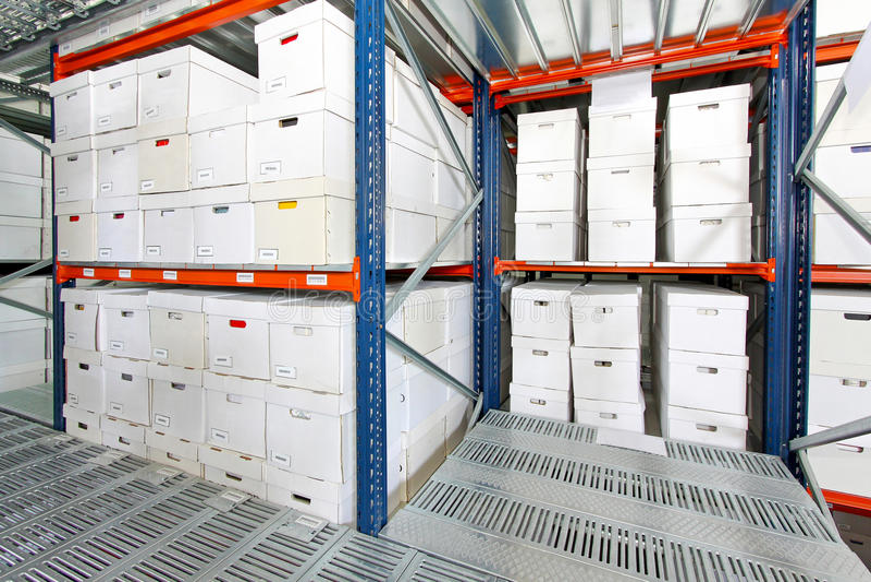 Boxes storehouse royalty free stock photo