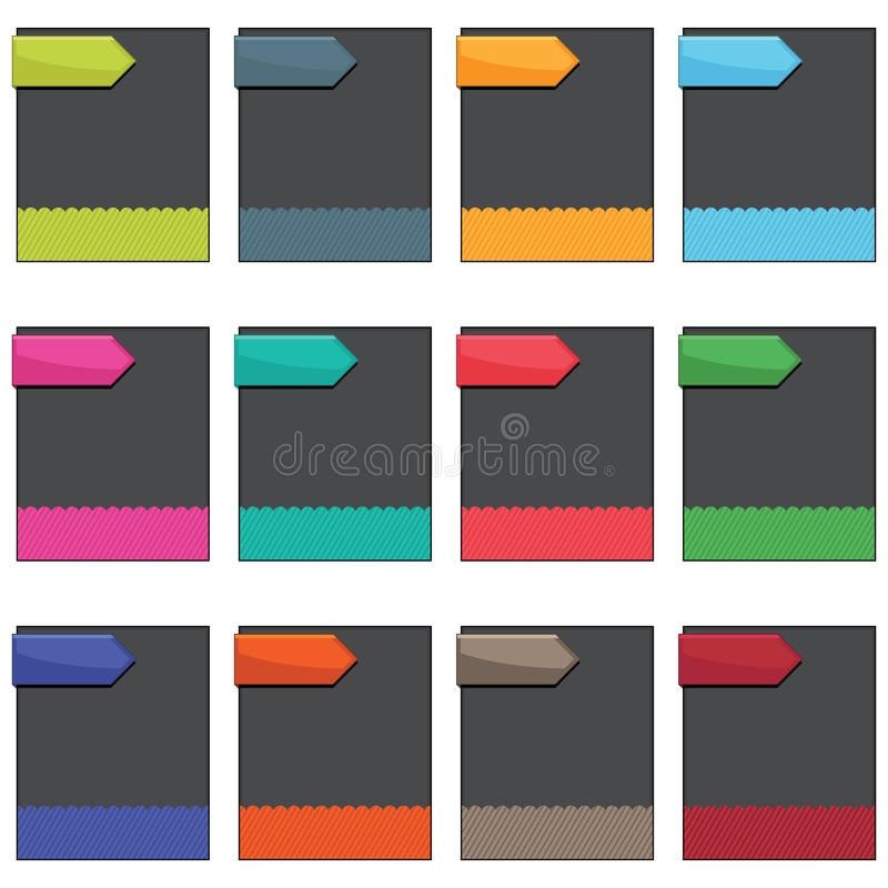 Boxes with tags vector illustration