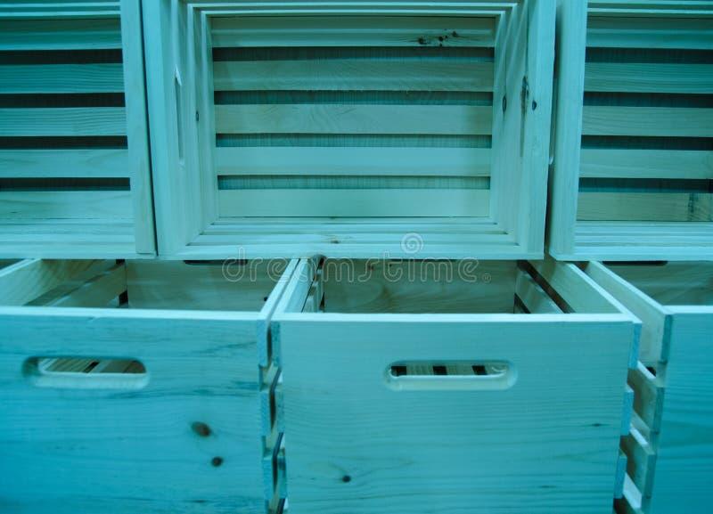 boxes trä royaltyfri fotografi