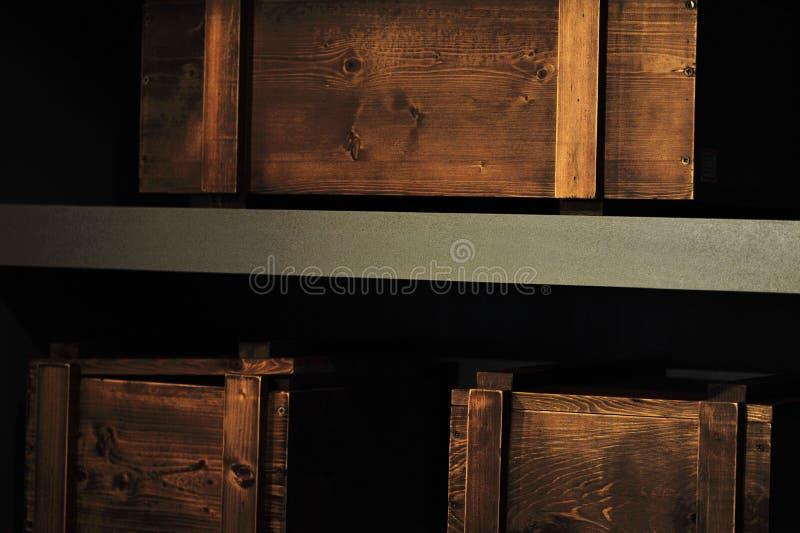 boxes trä royaltyfria foton
