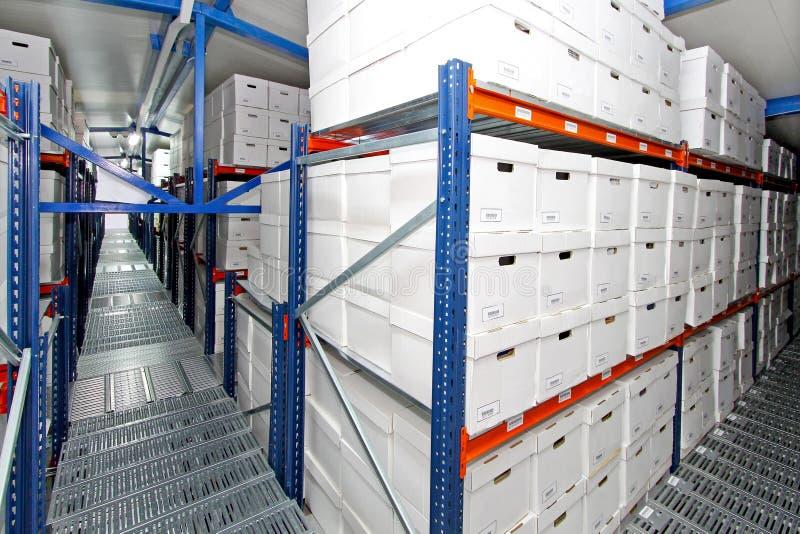 Boxes warehouse royalty free stock photo