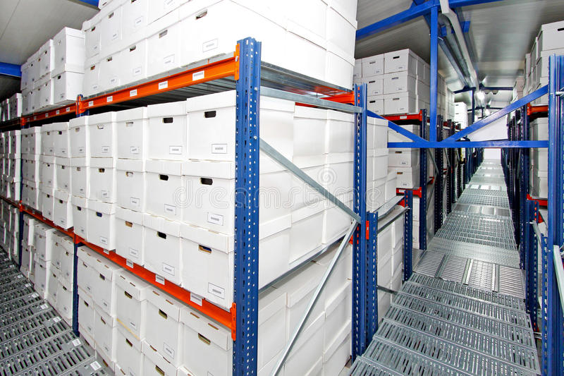 Boxes warehouse 2 stock images