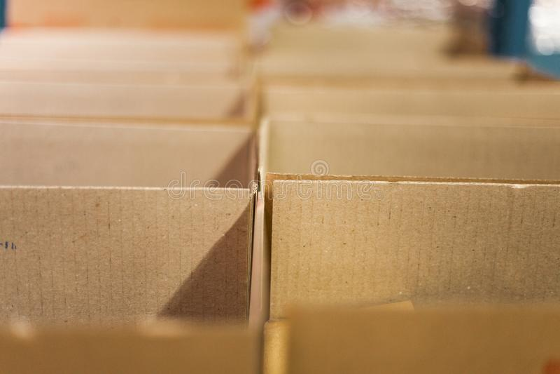Boxes stock photo