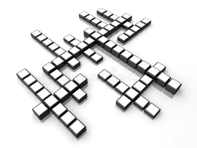 BoxesCrossword vector illustratie