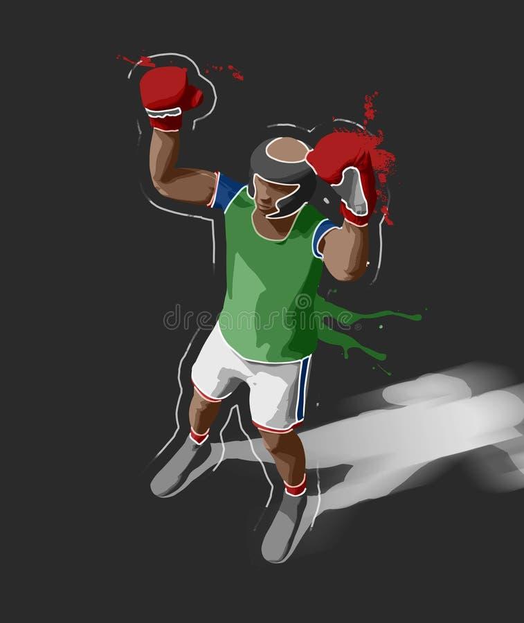 boxeur illustration de vecteur