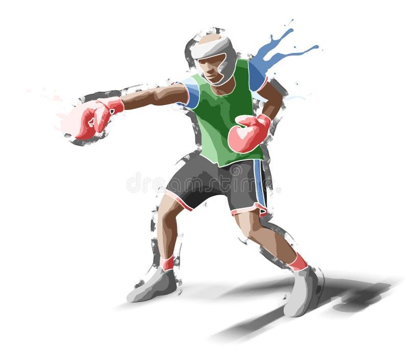 boxeur illustration libre de droits