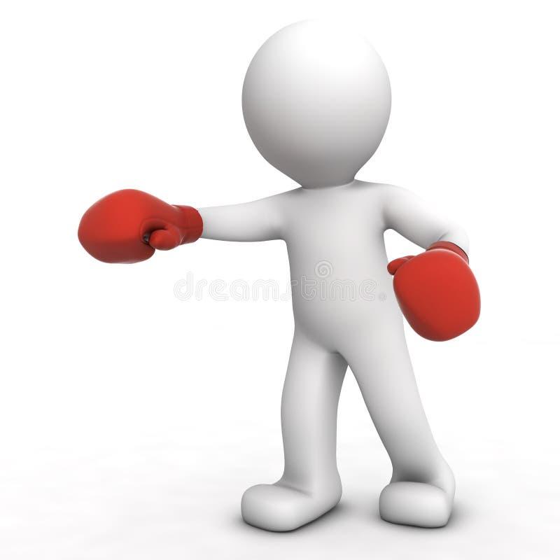 boxeur 3d illustration de vecteur