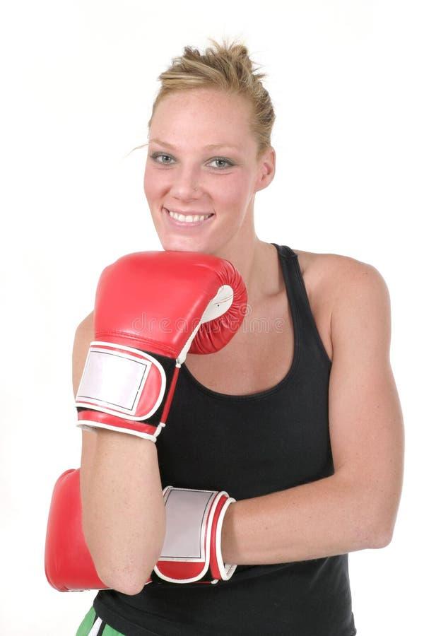 Boxeur 5 de femme image stock
