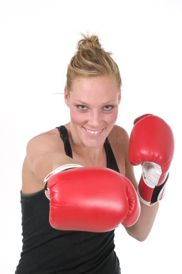 Boxeur 6 de femme photographie stock
