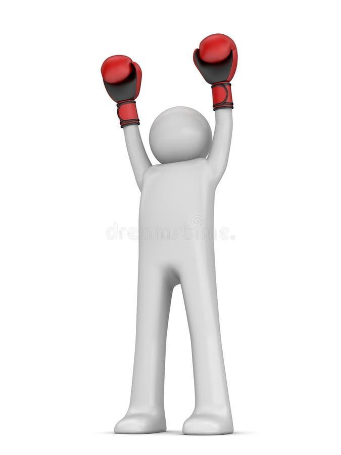 Boxeur de gagnant photos libres de droits