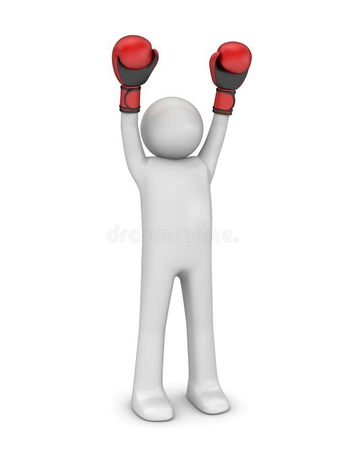 Boxeur de gagnant image libre de droits