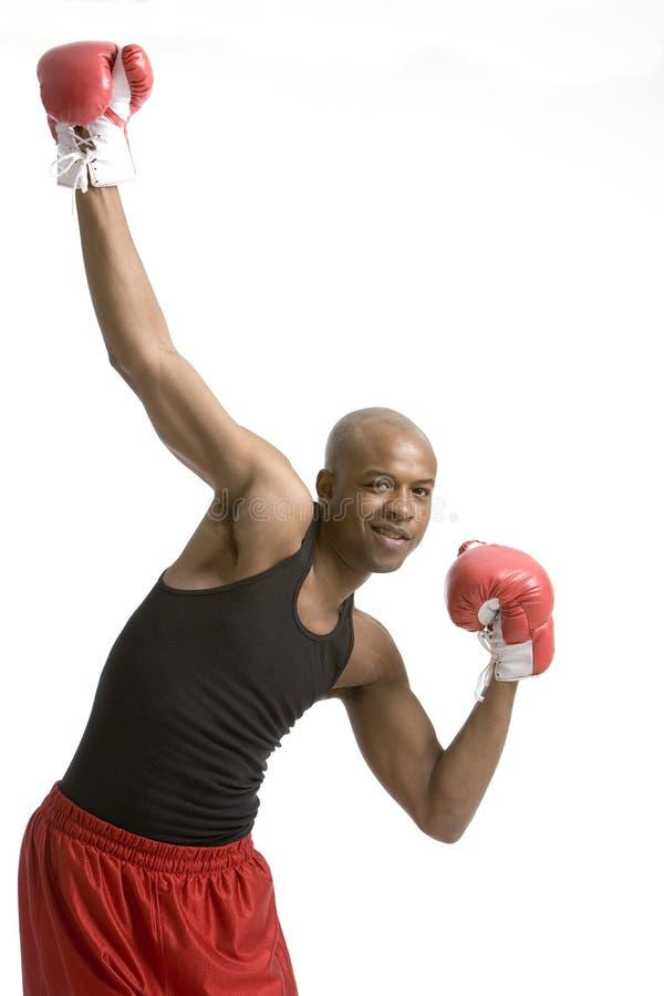 Boxeur heureux images stock
