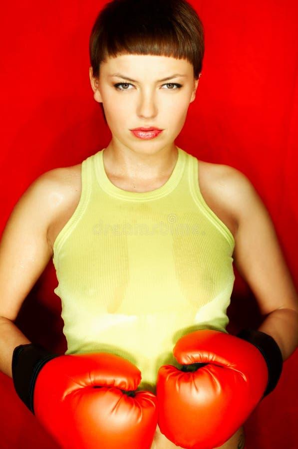 Download Boxeur rouge image stock. Image du santé, combat, boxe - 730309