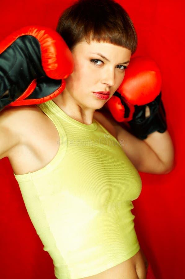 Boxeur rouge image stock