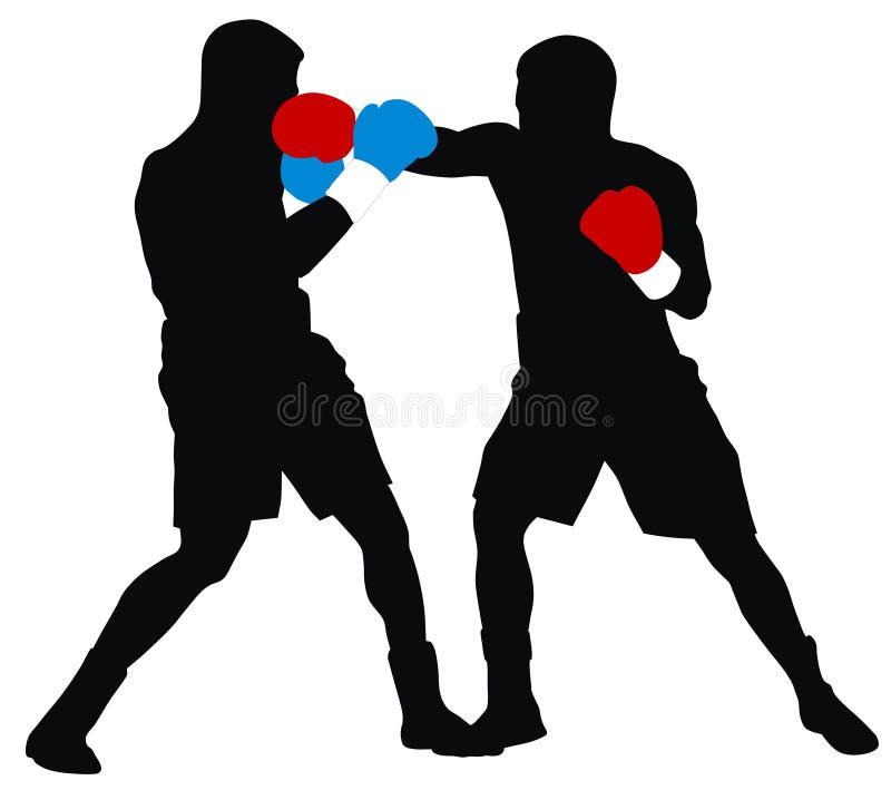 Boxeurs illustration stock