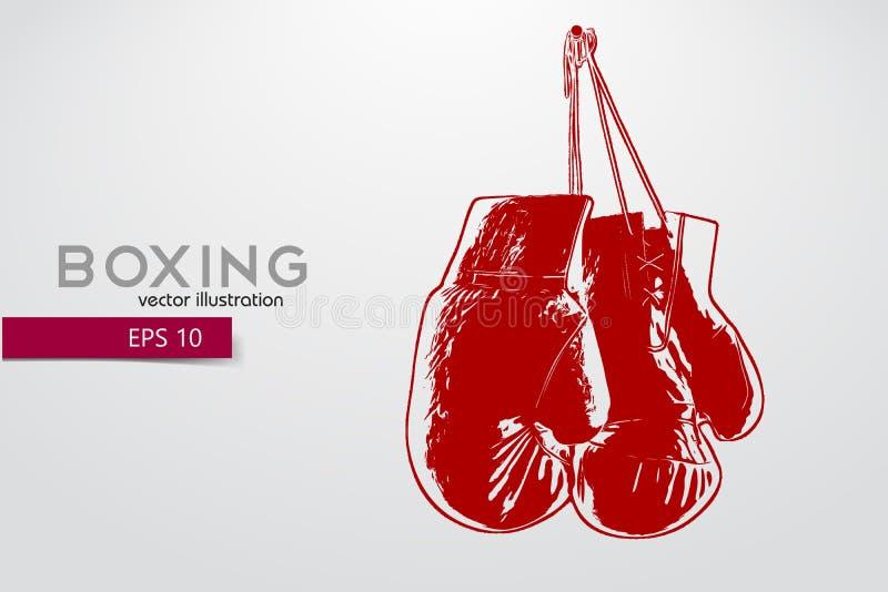 Boxhandschuhschattenbild stock abbildung