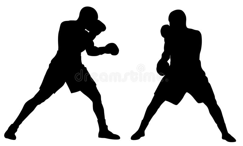 Download Boxing stock vector. Image of bruiser, action, fight - 10245082
