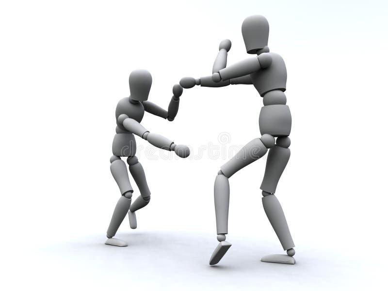 Boxing 3 stock illustration