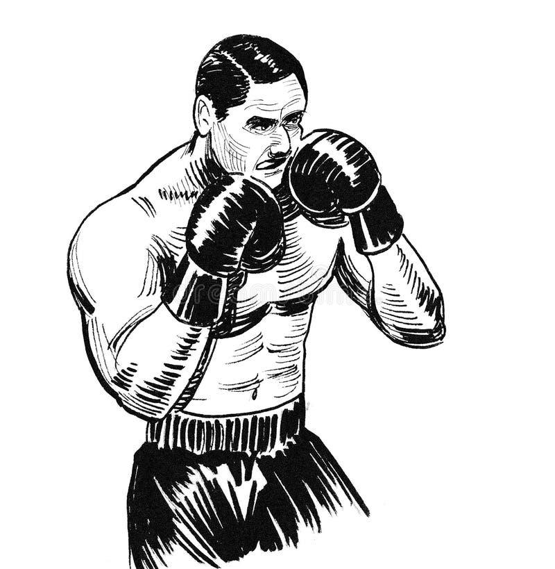 Boxing athlete vector illustration