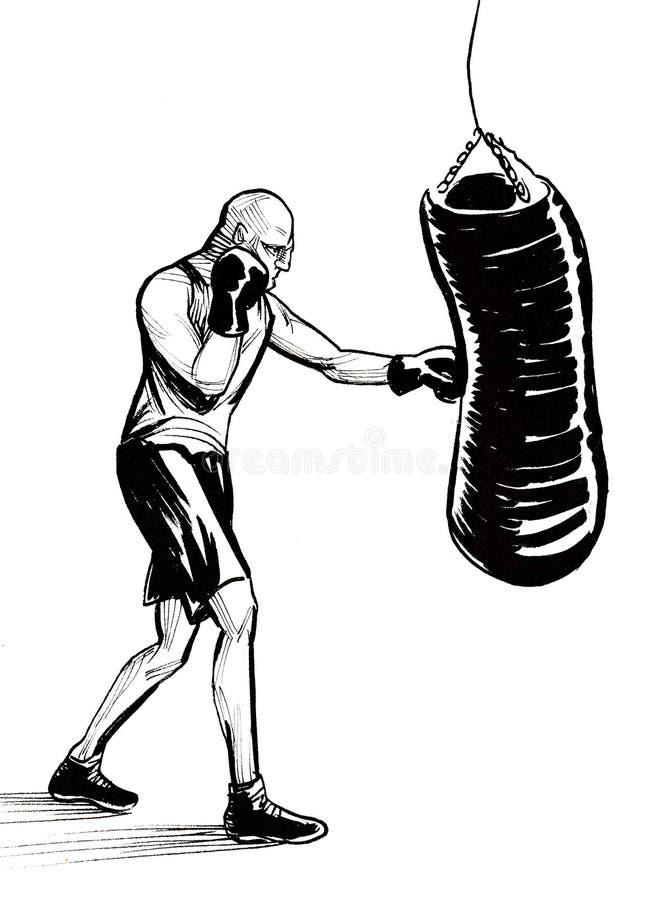 Boxing athlete royalty free illustration