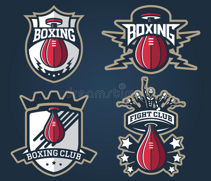 Boxing badges and labels. Vector boxing badges and label for any use vector illustration