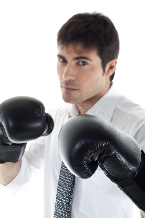 Free Boxing Businessman Royalty Free Stock Photos - 14781478
