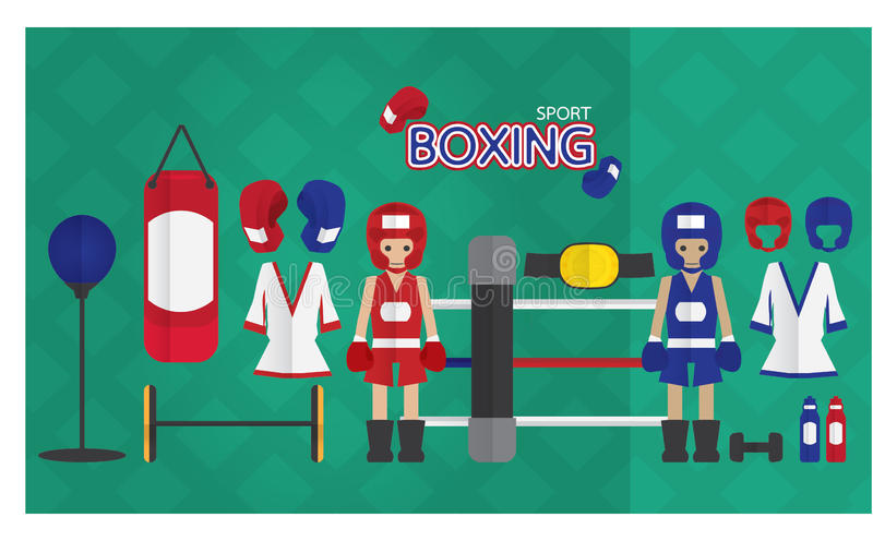 Boxing cartoon icon. Icon sport boxing cartoon design character vector illustration