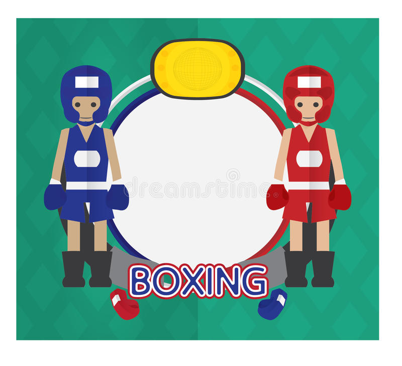 Boxing cartoon logo. Icon sport boxing cartoon design character vector illustration