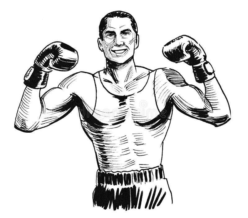 Boxing champion royalty free illustration