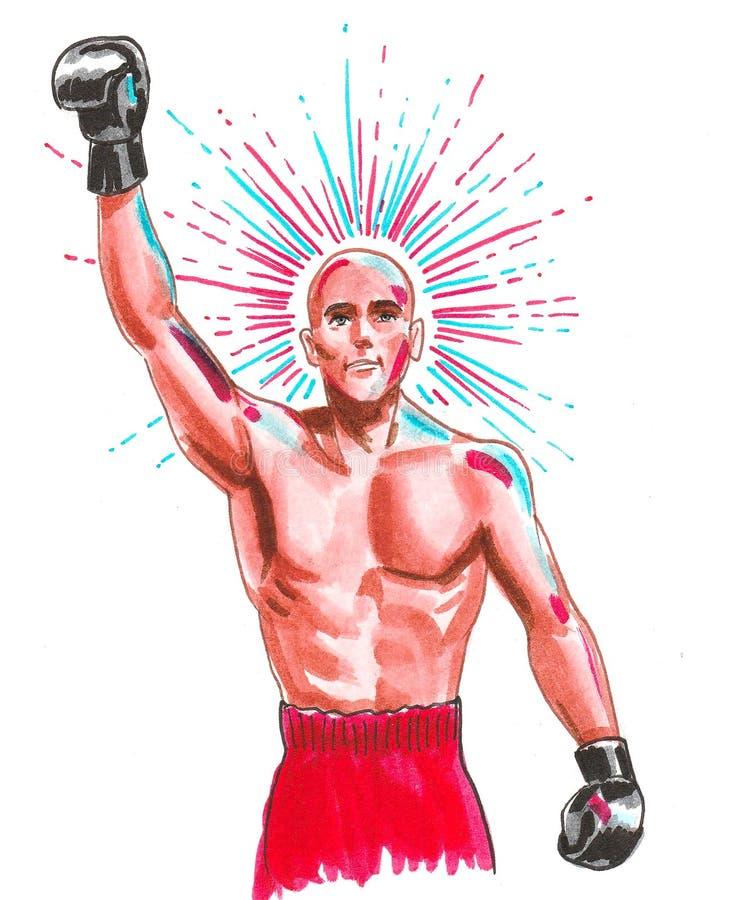 Boxing champion vector illustration