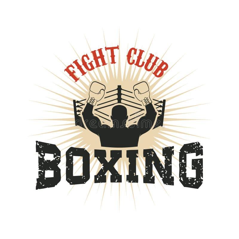 boxing Club di lotta royalty illustrazione gratis