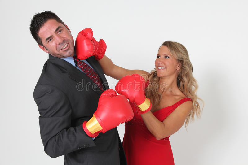 Boxing Couple royalty free stock photography