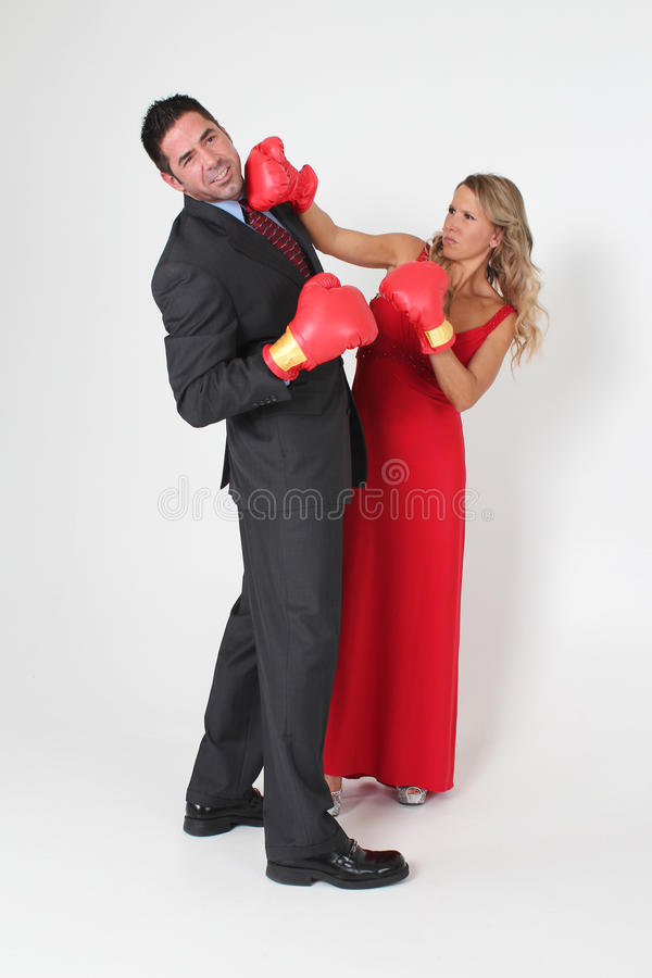Boxing Couple royalty free stock images