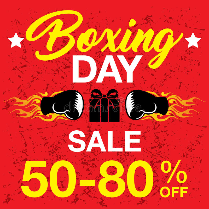 Boxing day background royalty free stock photography
