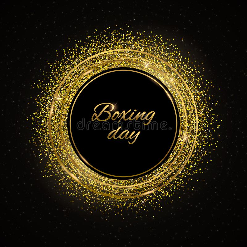 Boxing day gold royalty free illustration
