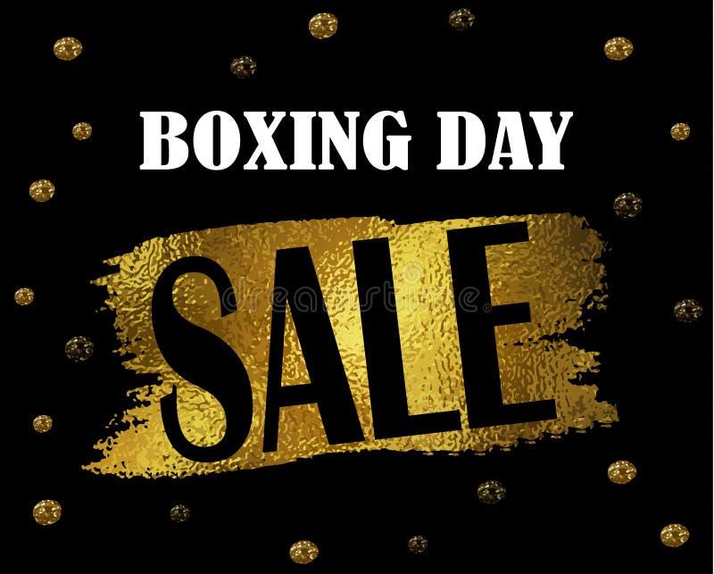 Boxing day sale banner. vector illustration