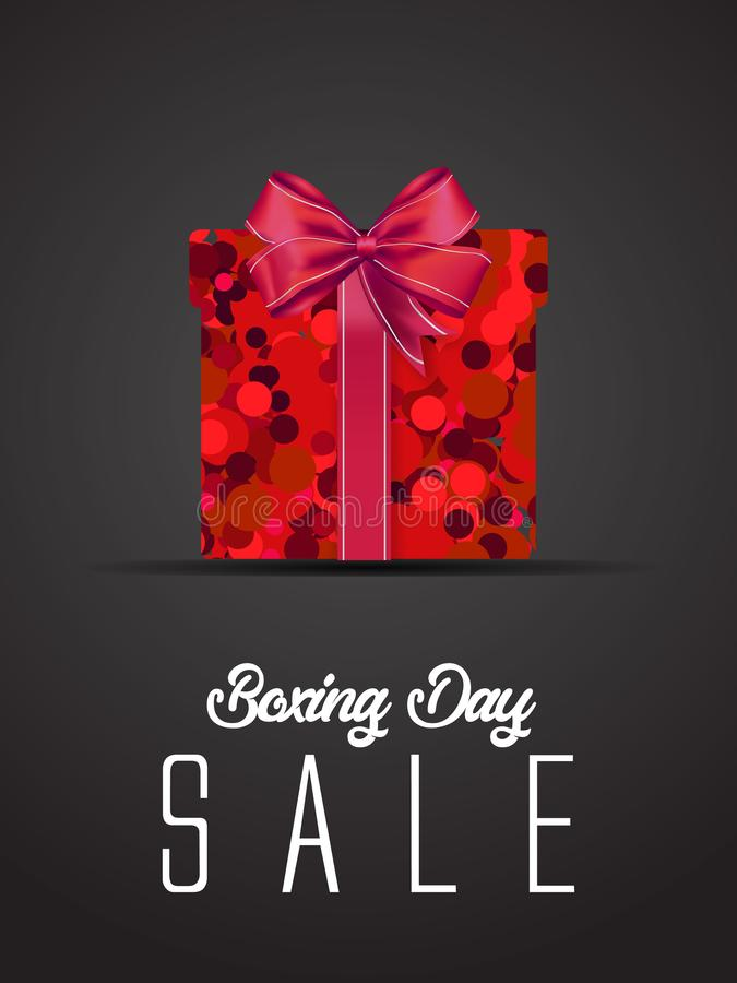 Boxing day sale. christmas advertising clipping mask box and eps 10. coloring, blue, gray, red bubble and balls. special poster. Vector illustration. EPS 10 stock illustration