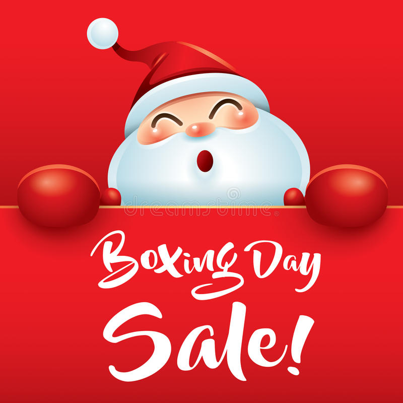 Boxing Day Sale! Santa Claus with red boxing glove. royalty free illustration