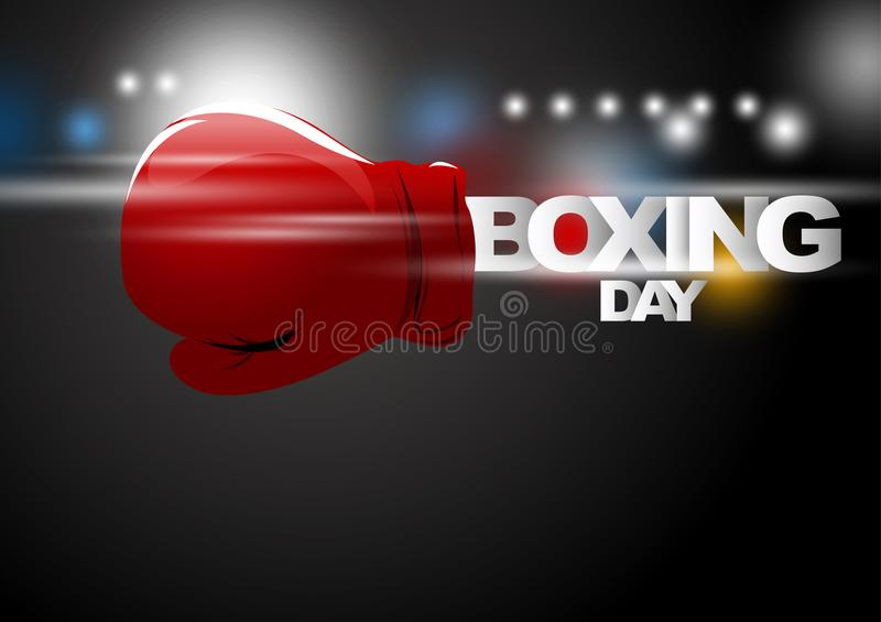Boxing day shopping concept design royalty free illustration