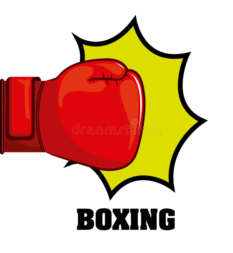 Boxing design. Boxing graphic design , vector illustration royalty free illustration