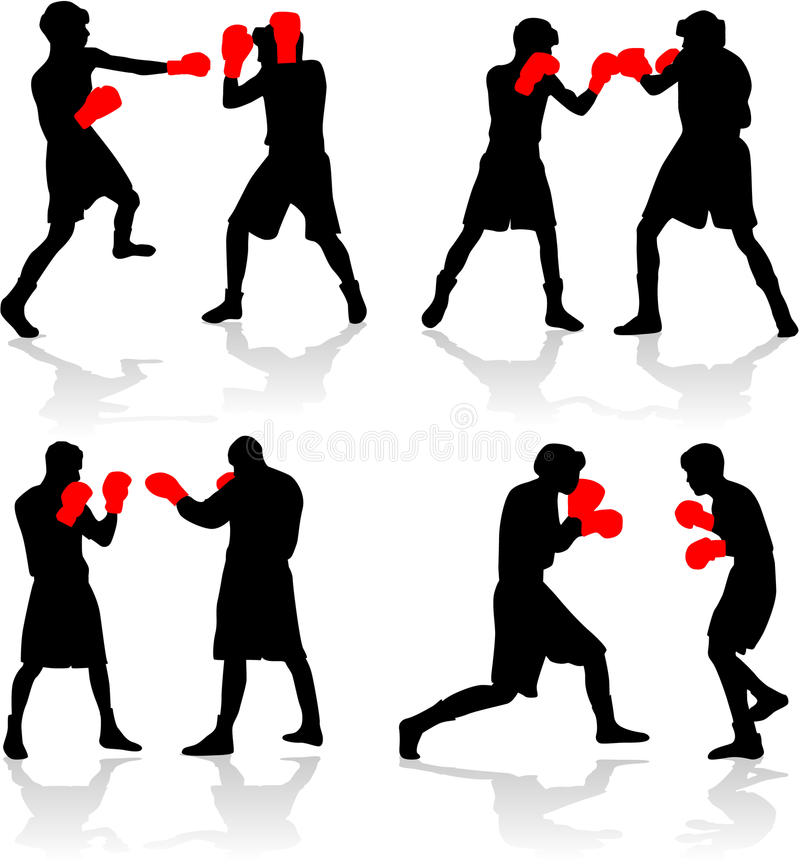Download Boxing fight stock vector. Image of vector, strong, brutal - 12981693