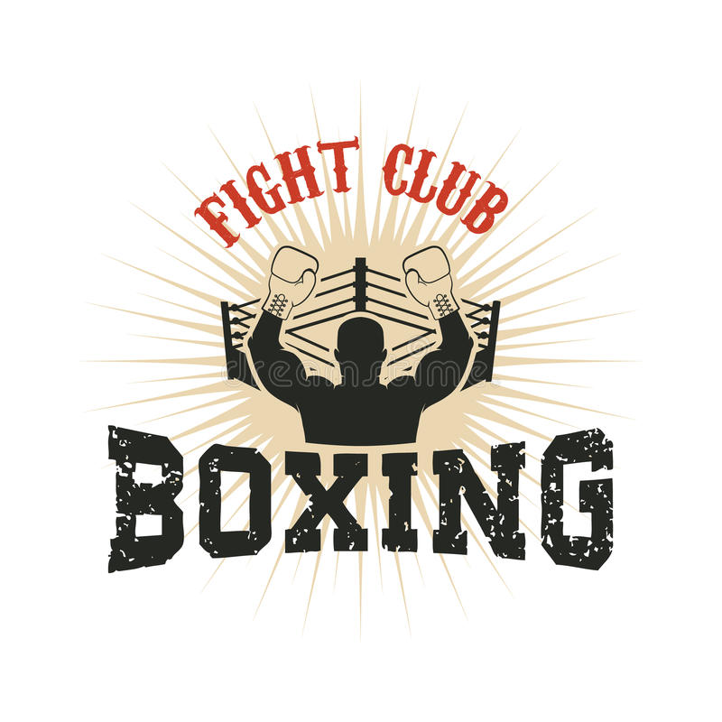 Boxing. Fight club. royalty free illustration