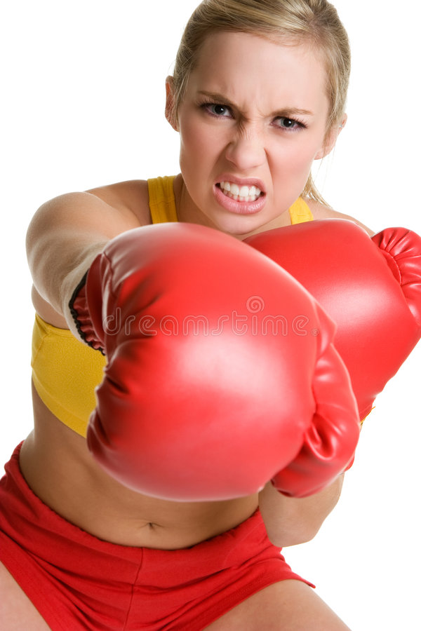 Download Boxing Girl stock photo. Image of hitting, punching, healthy - 6048874