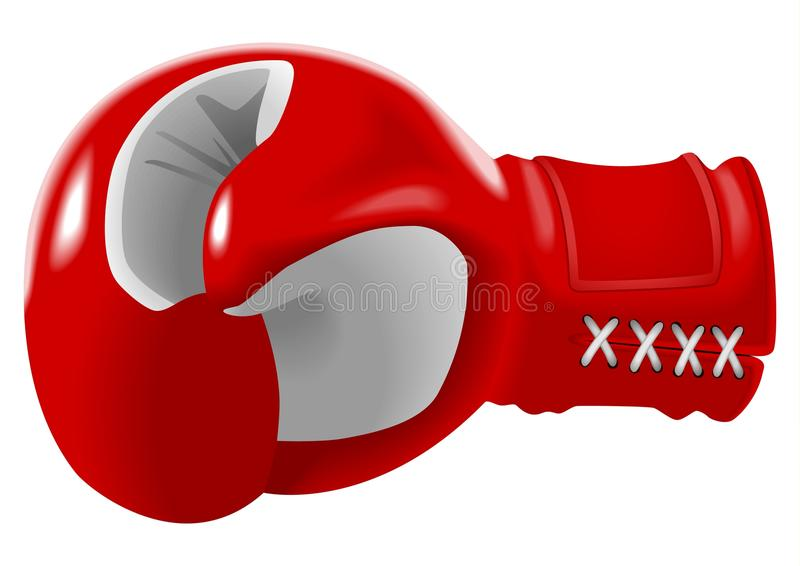 Boxing Glove. Stock illustration of red boxing glove vector illustration