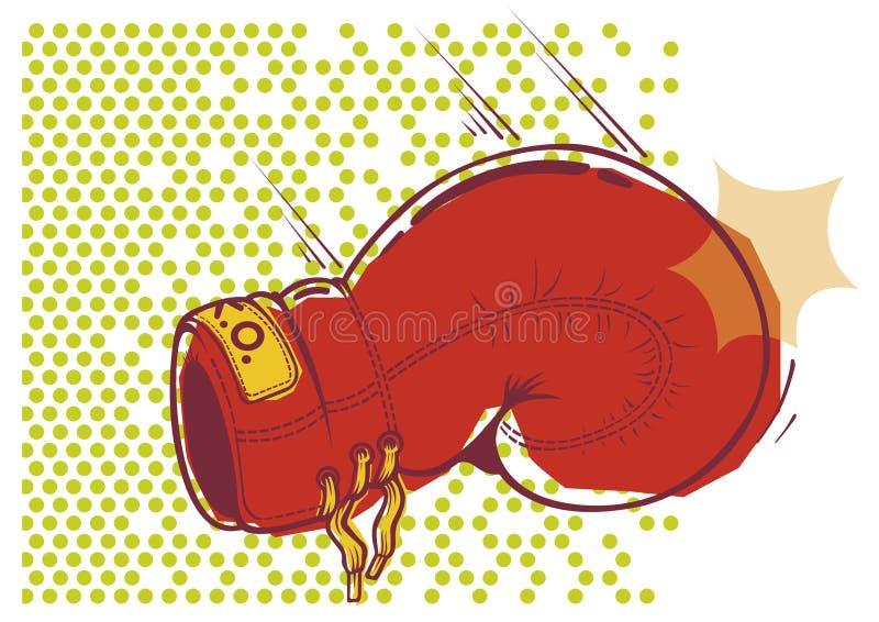 Boxing glove. Illustration of resting glove on dotted background vector illustration