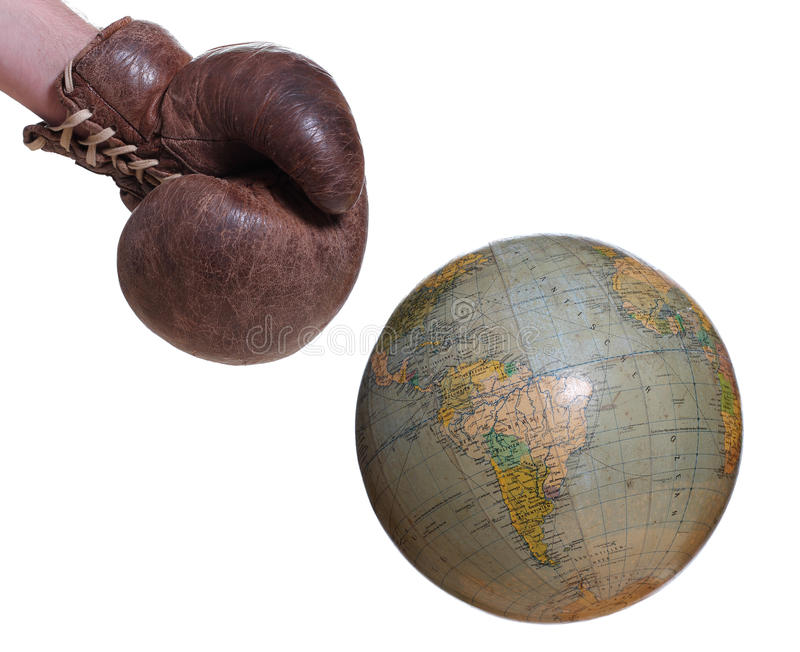 Download Boxing glove and globe stock image. Image of fight, globe - 28339179