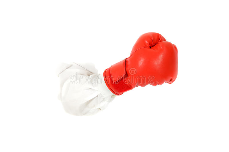 Boxing Glove, Hand. Royalty Free Stock Images