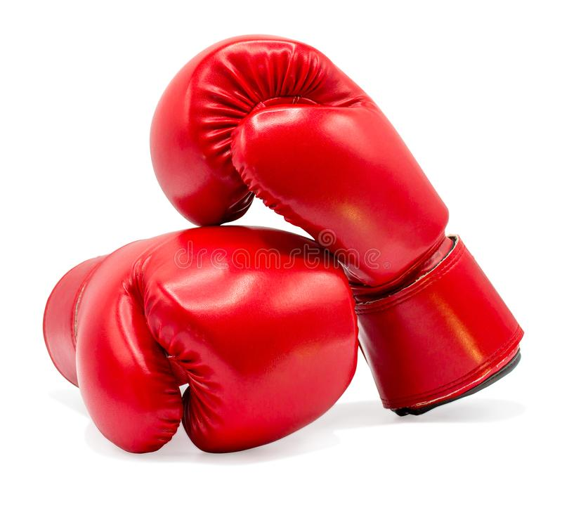 Boxing glove isolated on white background with clipping path. Closeup royalty free stock photos
